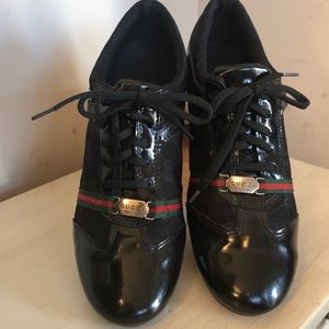 Authentic Gucci Black Sneakers